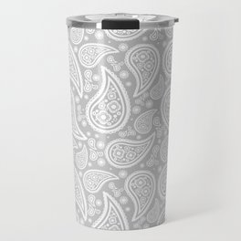 Paisley (White & Gray Pattern) Travel Mug