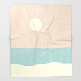 LANDSHAPES / Beach - Day Throw Blanket