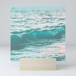pastel color water, ocean waves Mini Art Print