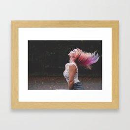 Enjoy Life #girl #adventure Framed Art Print