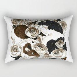 Rats and Peonies Rectangular Pillow
