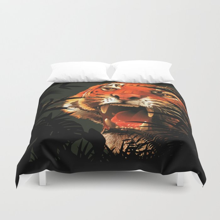 The tiger inside me ... Duvet Cover