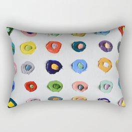 Concentric Polka Daubs Rectangular Pillow