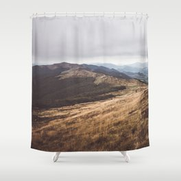 Over the hills and far away Shower Curtain