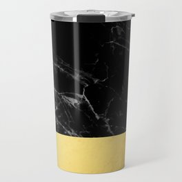 Black Marble & Gold Travel Mug