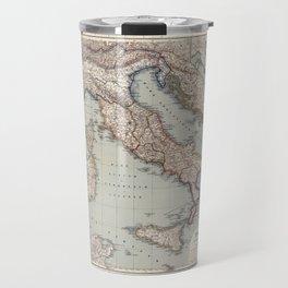 Bella Italia Vintage Map Of Italy Travel Mug