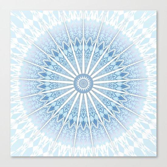 Pale Blue Mandala Canvas Print