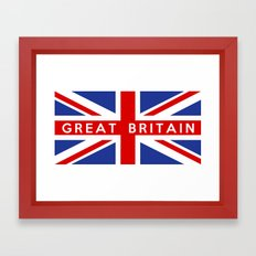 great britain country flag name text british Framed Art Print