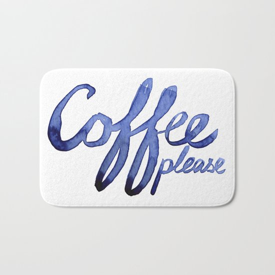 Coffee Please Drinks Caffeine Typography Coffee Lovers Bath Mat