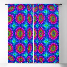 Flower  rainbow-colored Blackout Curtain