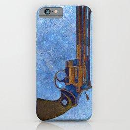 Colt Python 357 Magnum on Blue Back Ground iPhone Case