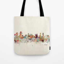 san diego california skyline Tote Bag