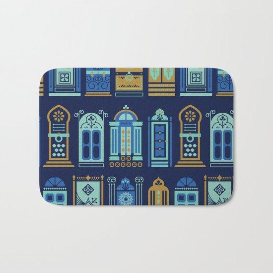 Moroccan Doors – Navy Palette Bath Mat