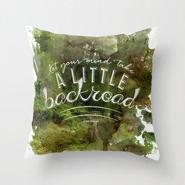 LYRICS - Backroad color Throw Pillow