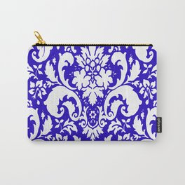 Paisley Damask Blue and White Carry-All Pouch