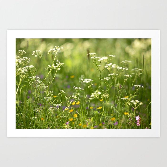 Green Summer Meadow #decor #society6 Art Print