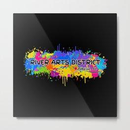 River Arts District - Asheville - AVL 17 Black Metal Print