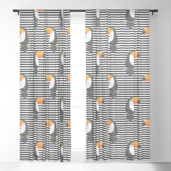 TOUCAN tropical toucans Sheer Curtain