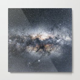Milky Way Galaxy Stars Night Sky Metal Print