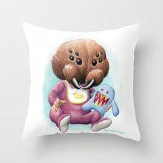Sblinkeee and Her Bonac Bubbie Throw Pillow