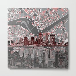 louisville kentucky skyline Metal Print