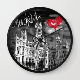 I love Madrid Wall Clock