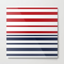 Striped blue-red Metal Print