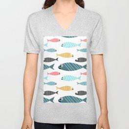 happy fish Unisex V-Neck