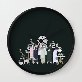 Fashionable Ladies with their Very Exotic Pets Wall Clock