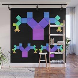 experiments on Lindenmayer Systems - Pythagoras says HELLO Wall Mural