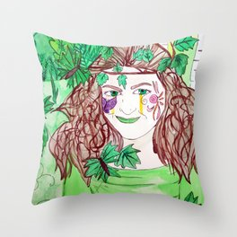 Child of Nature Throw Pillow