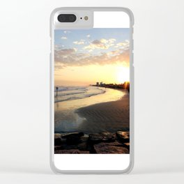 Sunset in Galveston Clear iPhone Case