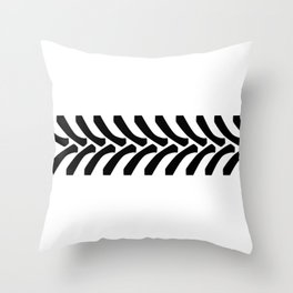 Tractor Tyre Tread Marks Throw Pillow