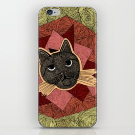 Cattitude: A cat with an attitude iPhone Skin