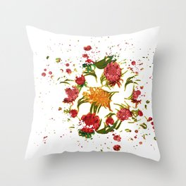 Beautiful Australian Native Floral Graphic Throw Pillow
