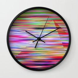 Multicolored Pyramid Wall Clock
