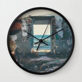 Kiss after the ruins Wall Clock