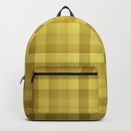Golden Buffalo Check Plaid Tartan Backpack