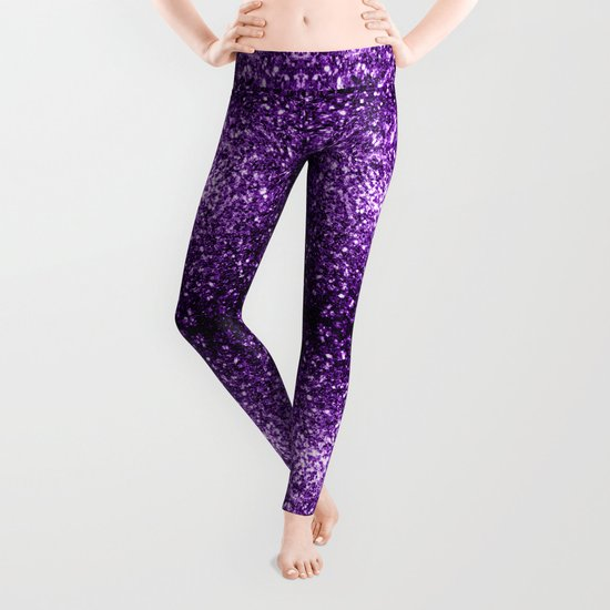 Beautiful Purple glitter sparkles Leggings