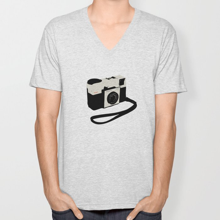 ivory kodak instamatic camera Unisex V-Neck