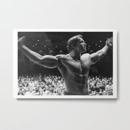 ArnoldSchwarzenegger Mr.Universe (Picture Poster Art Body building Actor Movie Film Metal Print