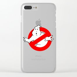 Ghostbusters Black Clear iPhone Case