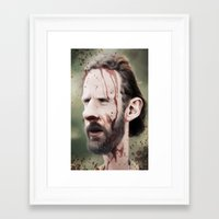 rick grimes Framed Art Prints featuring Rick Grimes by dbruce