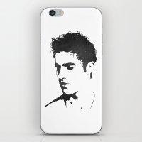 darren criss iPhone & iPod Skins featuring Darren Criss Portrait by laurenschroer