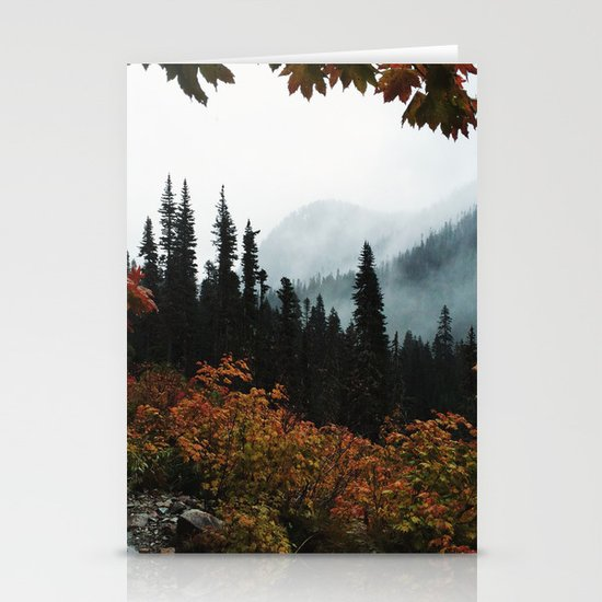 Fall Framed Trail Stationery Cards
