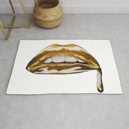Golden Lips Rug