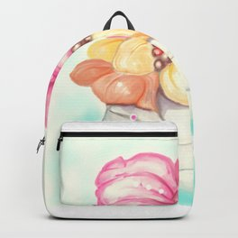 Tropical Fruit Bouquet Painting Backpack