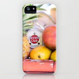 34. Havana Club and Fruits, Cuba iPhone Case