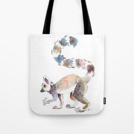 Splotchy Lemur Tote Bag