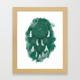 Classic Dreamcatcher: Green background Framed Art Print